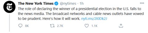 New York Times - The role of declaring the winner of the presidential election falls to the news media.png