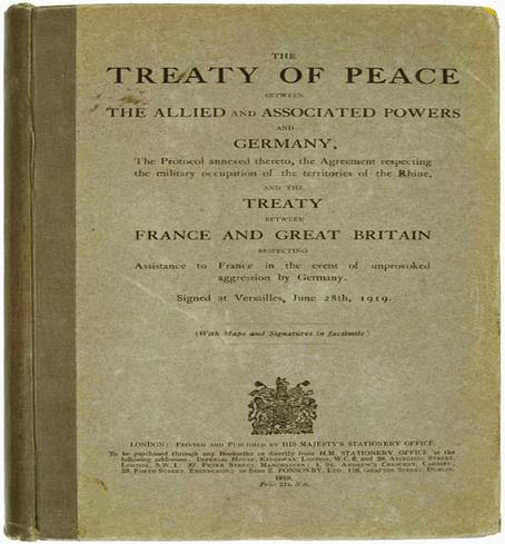 an analysis of the treaty of versailles as one of the causes of world war one The treaty of versailles, however, sharply differed from wilson's points, and germany, who felt betrayed, denounced the treaty as morally invalid the goal following world war i was to restore european stability and maintain everlasting peace however, these goals were recognized by all of.