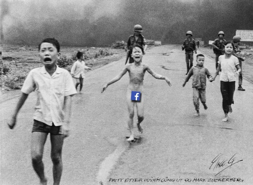 A Facebook friendly version of the iconic 1972 war photograph