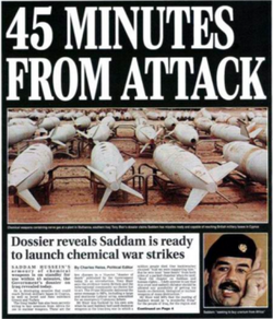 Operation Mass Appeal, lies calculated to increase fear among the UK citizens and facilitate the 2003 Attack on Iraq.