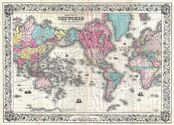 1852 Colton's Map of the World on Mercator's Projection ( Pocket Map ) - Geographicus - World-colton-1852.jpg