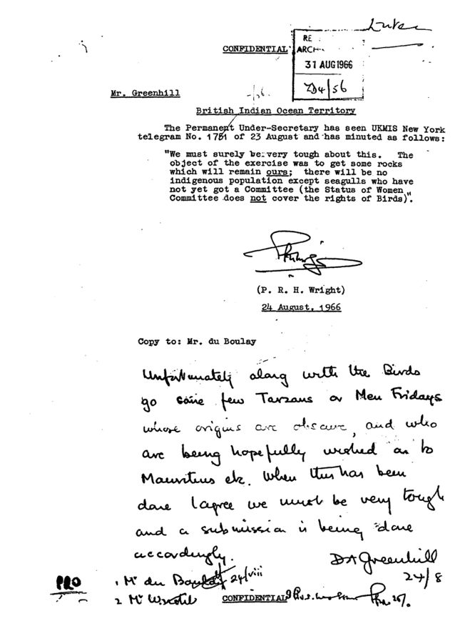 Diplomatic Cable signed by D.A. Greenhill, dated August 24, 1966.jpg