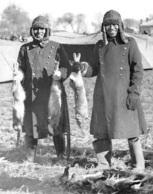 Japanese soldiers showing off what they hunted for dinner in China 1938.jpg